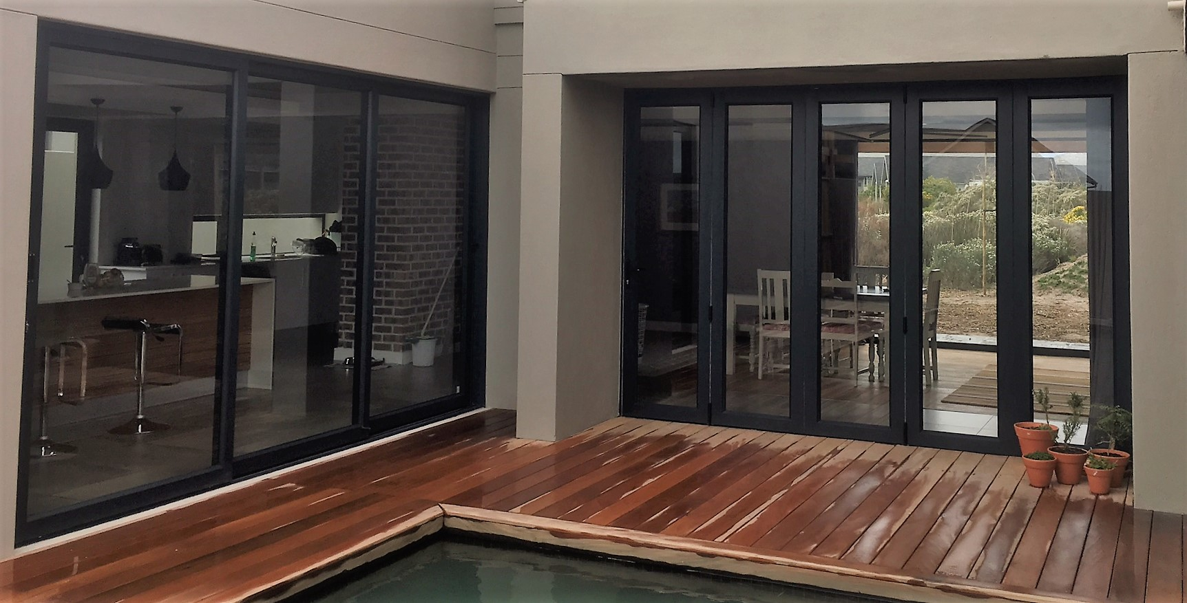 Products cape glass and aluminium for Stacking doors